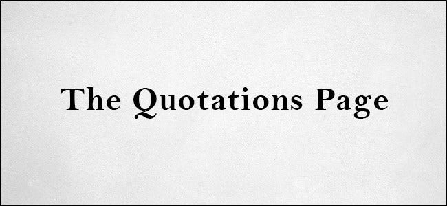 The Quotations Page Logo