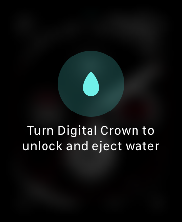 The water lock icon on Apple Watch.