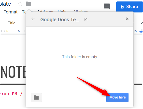 """Click """"Move here"""" to move the file into this folder."""