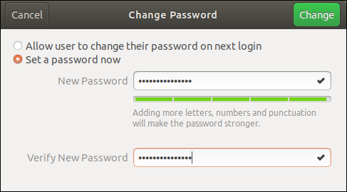 "Type the new password in the ""New Password"" and ""Verify New Password"" fields."