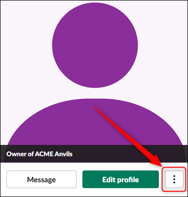 The 3 dots used to open the account menu.