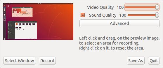 recordMydesktop user interface