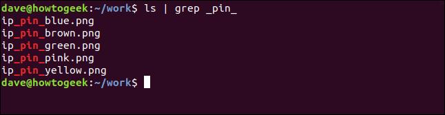ls | grep _pin_ in a terminal window