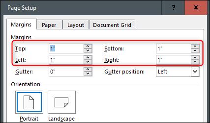 Adjust page margins