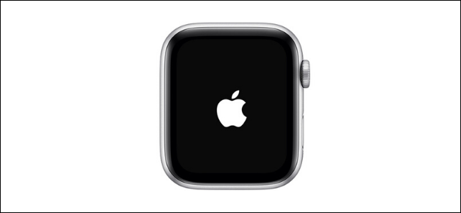 Apple logo showing on the Apple Watch