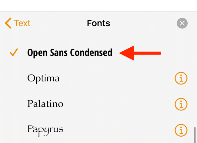 Choose the downloaded font