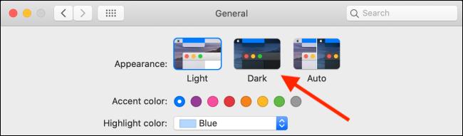 Click on the Dark option