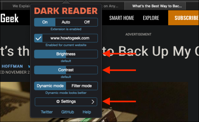 Customize the dark mode in Safari