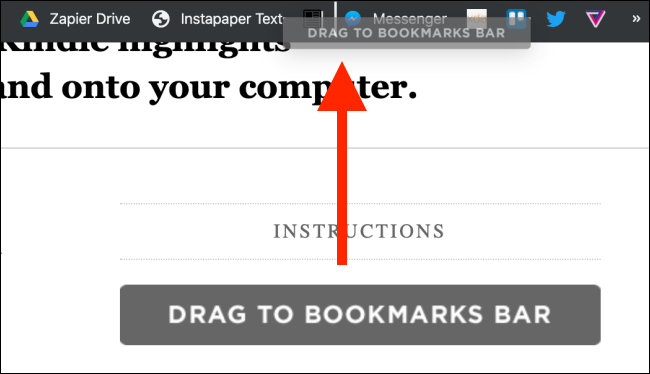 Drag the button to the bookmarks bar