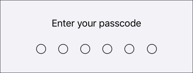 Type your passcode.
