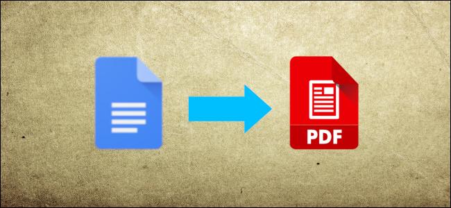 Google Docs document to PDF header