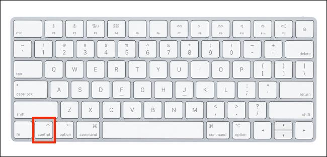 Magic Keyboard highlighting the Control button