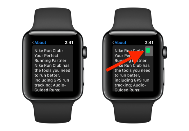 Navigating zoom mode on Apple Watch