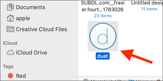 Double-click the Duet icon.