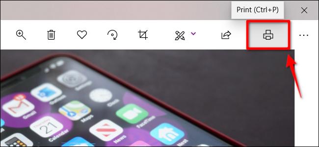 Printer Icon in Photos App