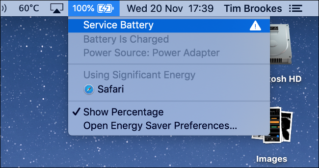 Service Battery Warning on MacBook Pro