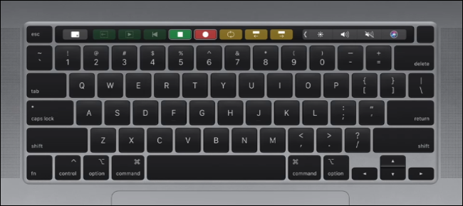 Apple MacBook Pro 16-inch Keyboard Layout
