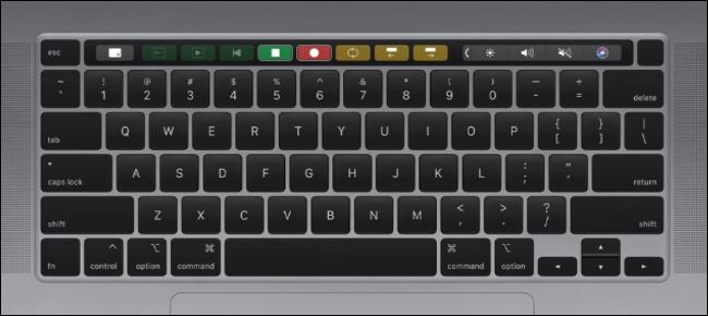 Apple MacBook Pro 16-inch Keyboard Layout