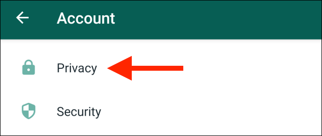 Select Privacy from Accounts in Settings