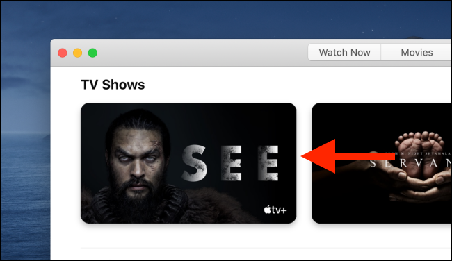 Select a show from the list