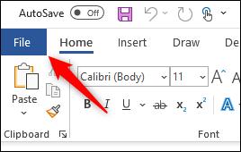 Select the file tab