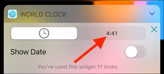 Switch to the digital view in World Clock widget.