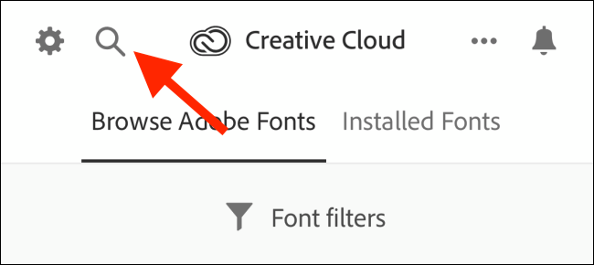 Tap on Search to search for fonts