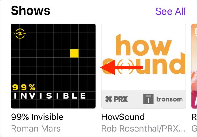 Toque el podcast para abrirlo.
