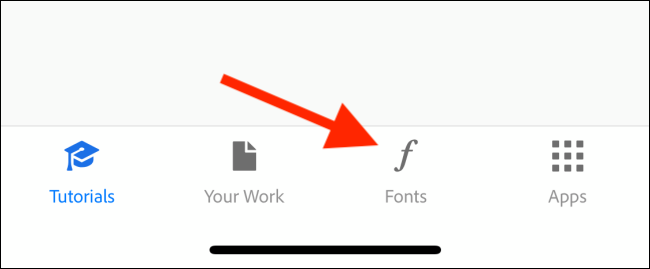 Tap on the Fonts tab