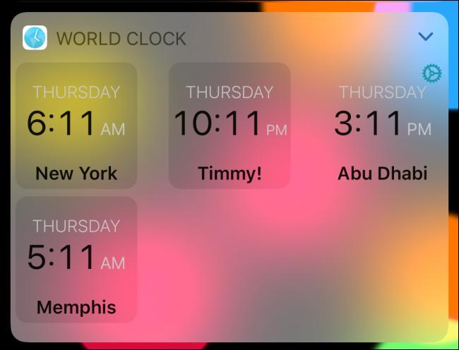 World Clock in digital mode.