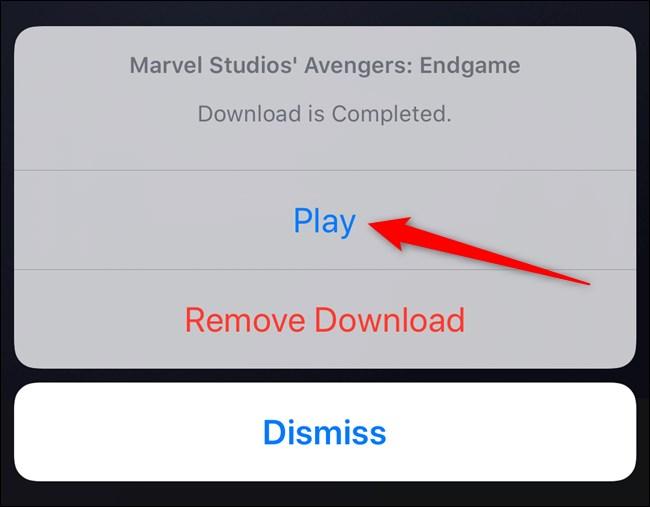 Disney+ App Select Play Menu Button