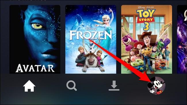 Disney+ App Tap Account Tab