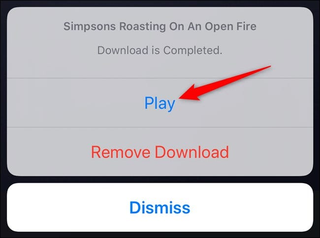 Disney+ App Tap Play Button