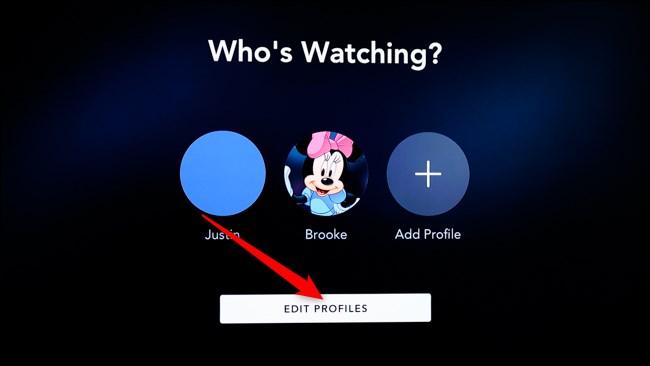 Disney+ Smart TV Click Edit Profiles