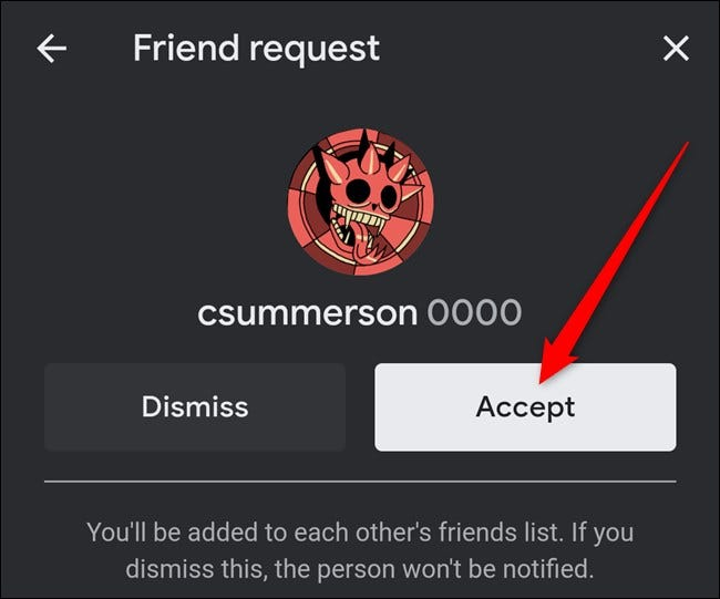 Google Stadia App Click Friend Request Accept