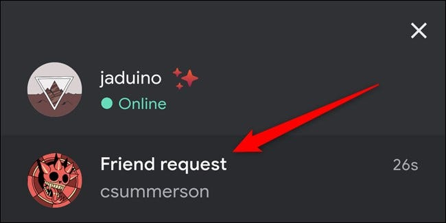 Google Stadia App Click Friend Request