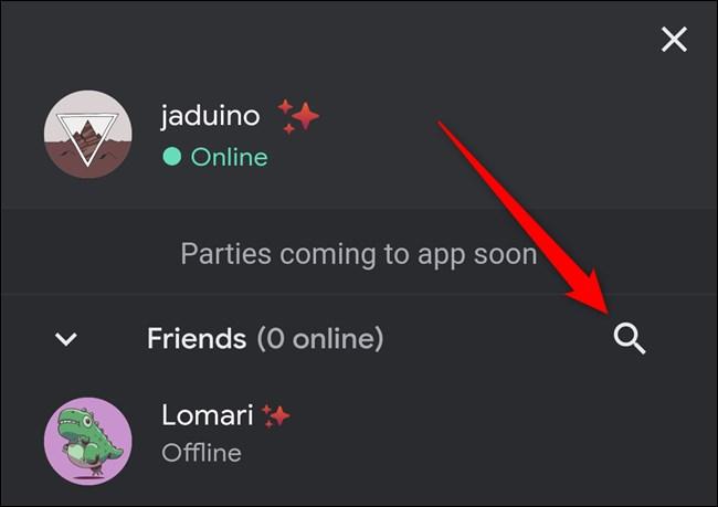 Google Stadia App Click Search Icon
