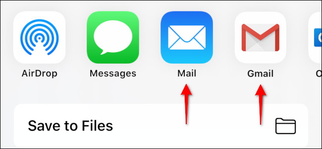 Select an email app in the pop-up menu to send the contact to your PC.
