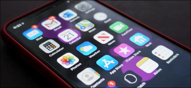Aplicaciones en un Apple iPhone X.