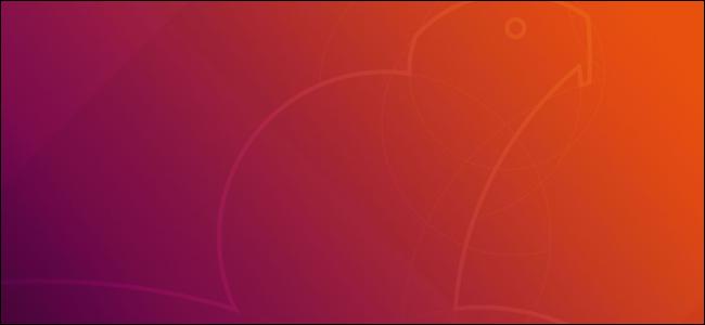 Ubuntu 18.04 LTS's default desktop background showing a Bionic Beaver.