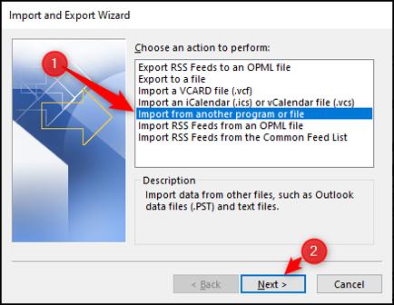 Importar contactos de otro archivo