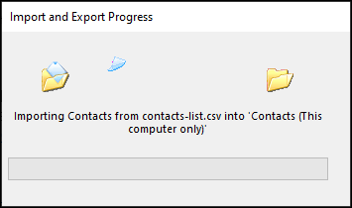 Importing contacts data
