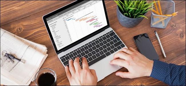 Office Worker Working on Apple MacBook