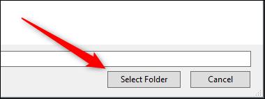 select folder in explorer