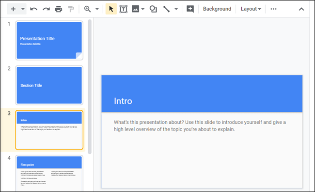 Fire up Google Slides and get the foundation of a template ready to go.