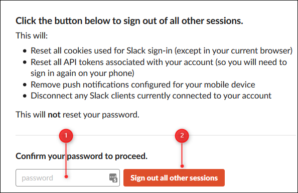 """The """"Sign out of all other sessions"""" confirmation panel."""