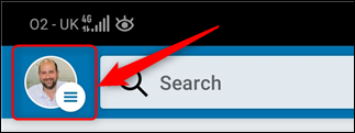 LinkedIn's Profile button.