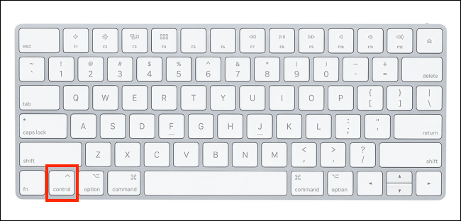 Magic Keyboard highlighting the Control button