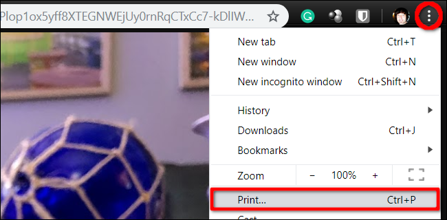 Print Picture from Chrome