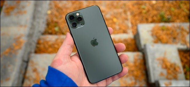Apple iPhone 11 Pro in Hand at Park